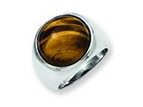"Chisel Stainless Steel Tiger""s Eye Ring style: SR176"