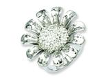 Chisel Stainless Steel Clear CZ Flower Ring style: SR190