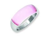"Chisel Stainless Steel 8mm Pink Cat""s Eye Ring style: SR195"