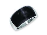 """Chisel Stainless Steel 12mm Black Cat""""s Eye Ring style: SR196"""
