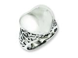 Chisel Stainless Steel Polished Heart Size 7 Ring style: SR229