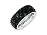 Chisel Stainless Steel Black Crystal 9mm Eternity  Ring style: SR242