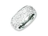 Chisel Stainless Steel Crystal 9mm Eternity Ring style: SR243
