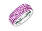 Chisel Stainless Steel Pink Crystal 9mm Eternity Size 7 Ring style: SR244