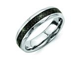 Chisel Stainless Steel And Black Carbon Fiber 6mm Polished Weeding Band style: SR255