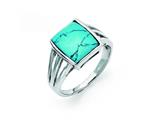 Chisel Stainless Steel Imitation Turquoise Ring style: SR280