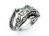 Chisel Stainless Steel Antiqued Alligator Ring style: SR283