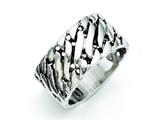 Chisel Stainless Steel Polished Tread Design Ring style: SR286