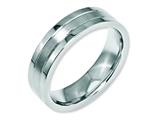 Chisel Stainless Steel Grooved 6mm Satin And Polished Weeding Band style: SR30