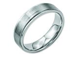 Chisel Stainless Steel Ridged Edge 6mm Brushed And Polished Weeding Band style: SR32