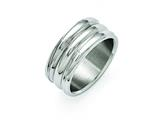 Chisel Stainless Steel Polished Grooved Ring style: SR347