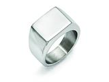 Chisel Stainless Steel Polished Ring style: SR353