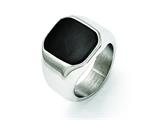 Chisel Stainless Steel Polished Enameled Ring style: SR354