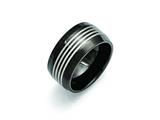 Chisel Stainless Steel Polished Black Ip-plated 12.00mm Weeding Band style: SR376