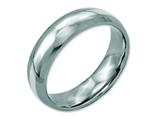 Chisel Stainless Steel Sterling Silver Inlay 6mm Polished Weeding Band style: SR37