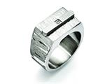 Chisel Stainless Steel Brushed And Polished W/cz Ring style: SR380