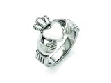 Chisel Stainless Steel Polished Claddagh Ring style: SR385