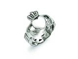 Chisel Stainless Steel Polished Braided Claddagh Ring style: SR386