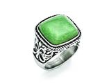 Chisel Stainless Steel Antiqued/polished Chalcedony Aventurine  Ring style: SR387