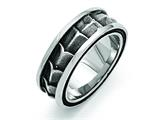 Chisel Stainless Steel Polished And Antiqued 9mm Weeding Band style: SR422