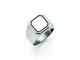 Chisel Stainless Steel Polished Black Enameled Ring style: SR426