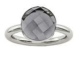 Chisel Stainless Steel Polished Grey Glass Ring style: SR438
