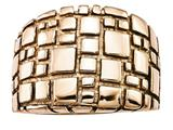 Chisel Stainless Steel Polished And Textured Rose Ip-plated Ring style: SR441
