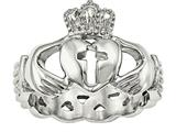 Chisel Stainless Steel Polished Claddagh With Cross Ring style: SR450
