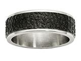 Chisel Stainless Steel Polished And Textured Black Ip-plated Weeding Band style: SR480