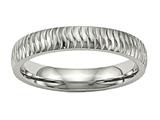 Chisel Stainless Steel Polished Textured Ring style: SR492