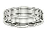 Chisel Stainless Steel Brushed And Polished Ridged 6.00mm Weeding Band style: SR509