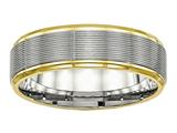 Chisel Stainless Steel Polished Yellow Ip Grooved Ring style: SR551