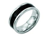 Chisel Stainless Steel Black Carbon Fiber 8mm Polished Weeding Band style: SR56