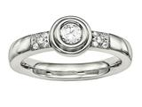 Chisel Stainless Steel Polished CZ Ring style: SR577