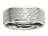 Chisel Stainless Steel Brushed And Polished Textured Weeding Band style: SR600