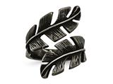 Chisel Stainless Steel Antiqued Leaf Wrap Ring style: SR609