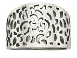 Chisel Stainless Steel Polished Cut-out Design Ring style: SR612