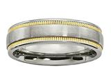 Chisel Stainless Steel Brushed And Polished Yellow Ip-plated Weeding Band style: SR617