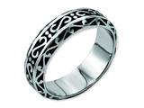 Chisel Stainless Steel 7mm Antiqued Weeding Band style: SR65
