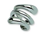 Chisel Stainless Steel Polished Wrapped Ring style: SR69