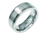 Chisel Stainless Steel Grooved Edge 8mm Brushed And Polished Weeding Band style: SR87