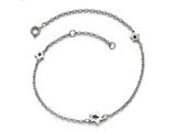 Chisel Stainless Steel Polished Stars With 1in Extension Anklet style: SRA1049