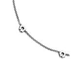 Chisel Stainless Steel Polished Flowers With 1in Extension Anklet style: SRA1069