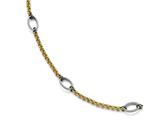 Chisel Stainless Steel Polished Yellow Ip-plated Anklet style: SRA11195