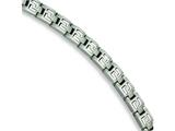 Chisel Stainless Steel Brushed and Polished Bracelet - 8.5 inches