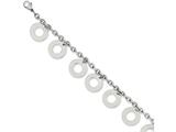 Chisel Stainless Steel Polished Dangle Circles 7.5in Bracelet style: SRB102275