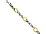Chisel Stainless Steel Polished and Yellow Ip-plated 8in Bracelet style: SRB1023725