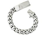 Chisel Stainless Steel Polished W/id Plate 8.5in Bracelet style: SRB103885