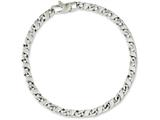Chisel Stainless Steel Polished Oval Links 7.75in Bracelet style: SRB1045775
