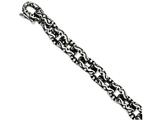 Chisel Stainless Steel Antiqued And Textured 8.25in Bracelet style: SRB1055825